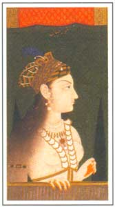 Mughal Miniature - Mughal Empress Nurjahan, circa 1740-50AD, National Museum, New Delhi