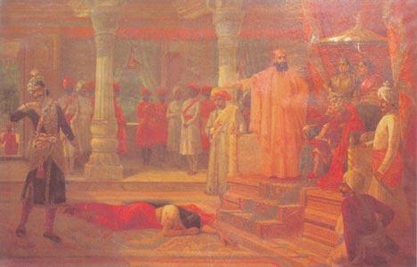 Raja Ravi Varma (1848 - 1906) - Draupati at the court of Virata, Sri Chitra Art Gallery, Thiruvananthapuram