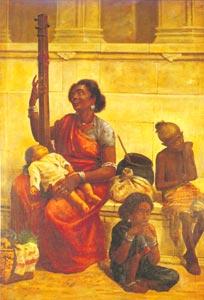 Raja Ravi Varma (1848 - 1906) - The Gypsies, Sri Chitra Art Gallery, Thiruvananthapuram