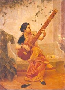 Raja Ravi Varma (1848 - 1906) - Kadambari,  Mumbai, Oil on Canvas, Collection of Ms Chamundeshwari Pranlal Bhogilal,