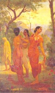 Raja Ravi Varma (1848 - 1906) - Looks_of_Love, Sri Chitra Art Gallery, Thiruvananthapuram