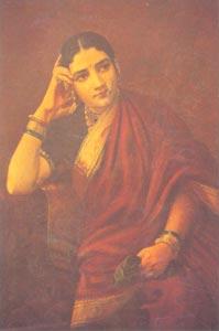 Raja Ravi Varma (1848 - 1906) - Maharastrian Lady, H.H. The Maharaja of Travancore, Kaudiar Palace, Thiruvananthapuram