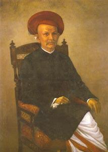 Raja Ravi Varma (1848-1906), Indian, Portrait of a Gentleman, Oil on Canvas, 86.3x120 cm, National Gallery of Modern Art, New Delhi