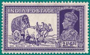 SG # 252, 1936, Dak Bullock Cart